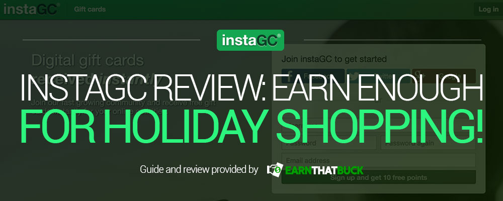 LEGIT - InstaGC Review: Earn Enough for Holiday Shopping! Legit or