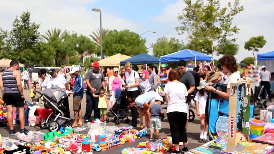 Organize or participate in a community swap meet.jpg